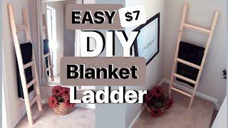 DIY BLANKET LADDER FOR $8