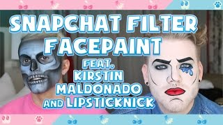 SNAPCHAT FILTER FACEPAINT (feat. Kirstin Maldonado & Lipsticknick)