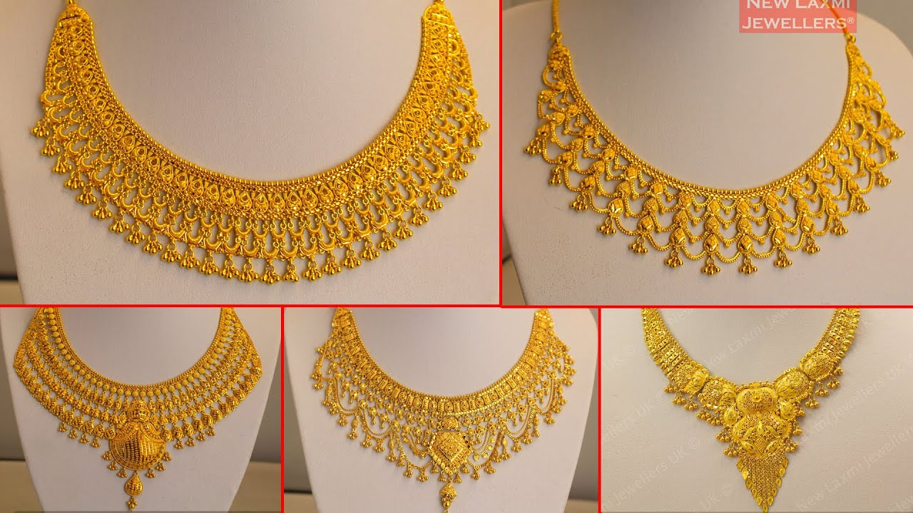 Latest Light Weight Gold Necklace Haram Designs Gold Bridal Necklace Haram Designs Youtube