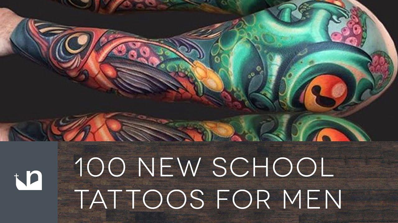 100 New School Tattoos For Men