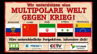 Aufruf für internationale Solidarität mit allen Ländern die für Frieden u. Diplomatie eintreten.