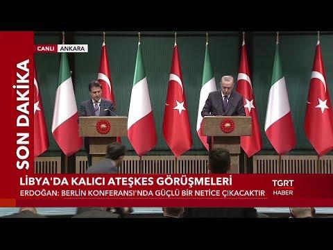 Cumhurbaşkanı Erdoğan ve İtalya Başbakanı Conte'den Ortak Basın Açıklaması