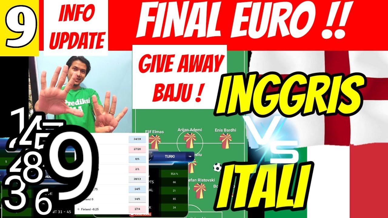 Analisa Lengkap! Prediksi Bola INGGRIS VS ITALI | FINAL EURO 2020 2021 | LINE UP | ENGLAND VS ITALY