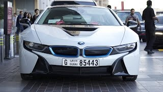 BMW i8 at Dubai Mall - it's a rental car!