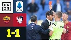 Tumult in Schlussphase! Tor aberkannt, Trainer sieht Rot: AS Rom - Cagliari 1:1 | Serie A | DAZN