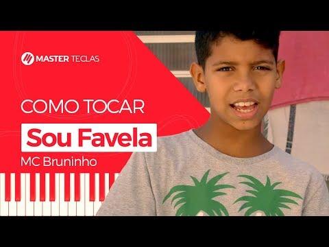 💎 Sou Favela - MC Bruninho  Piano Tutorial - Master Teclas 💎