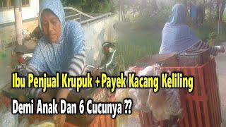 PEKALONGAN Street Food Part 3, Krupuk +Payek Kacang Terlaris Buatan Maminah !!