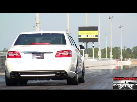 RENNtech Mercedes E63 vs RENNtech CLS63 AMG BiTurbo - Drag Video - 11 09 @  129 mph Street Car Drags