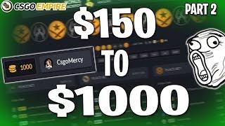 $150 TO $1000 ! - CsgoEmpire (Part 2) Code Mercy Video