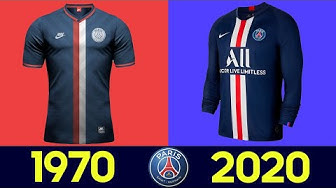 The Evolution of Paris Saint-Germain Football Kit | All Paris Saint-Germain Football Kits in History