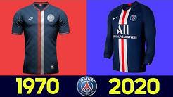 The Evolution of Paris Saint-Germain Football Kit | All Paris Saint-Germain Football Kits in History