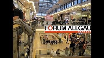 Forum Allgäu - Part 1। Popular and Main Shopping Mall in Kempten । Germany