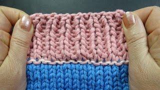 Кеттельный трикотажный шов   вязание на спицах Урок 71