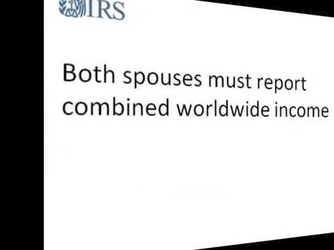 International Taxpayers-Filing Status If Married to a Nonresident Alien