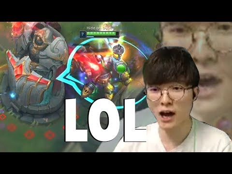 STEALING FAKER'S LANTERN - Funny Faker's Reaction...   Funny LoL Series #483