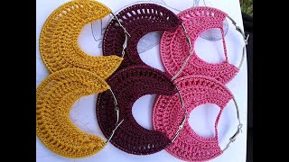 DIY Crochet hoop earrings tutorial