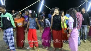 Thabal Chongba (dance in moonlight) at Yaoshang Festival, Manipur