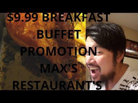BREAKFAST BUFFET PROMOTION/ MAXS  RESTAURANT/EDMONTON