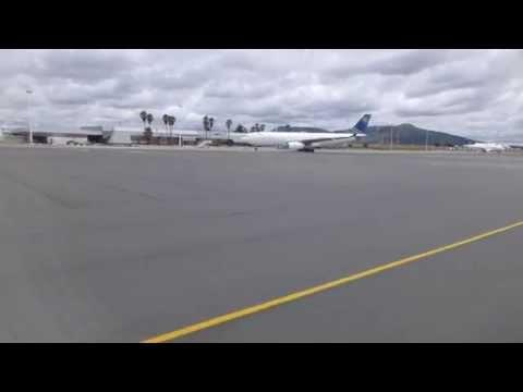 Landing in Windhoek in an Air Namibia ERJ-135