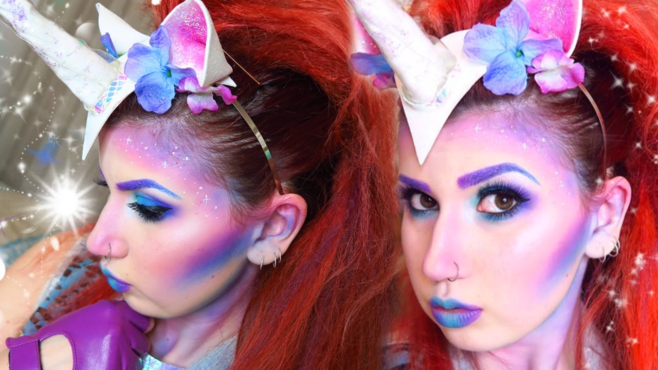 Magical Unicorn Makeup [NYX Halloween Party!] - YouTube
