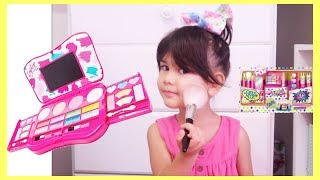 Abby Playing Make Up and Dress Up with Toys