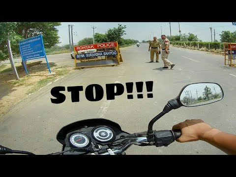 Cops Stopped Me | 1000km Ride | BAJAJ PLATINA