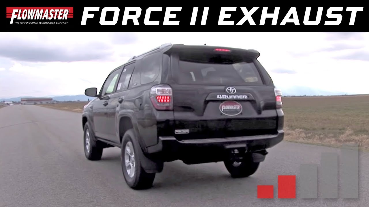 Flowmasters force ii cat back exhaust system 2009 2014 toyota 4runner p n 817569 youtube