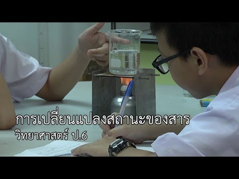 วิทยาศาสตร์ ป.6 การเปลี่ยนสถานะของสาร ครูศศิธร เขียวกอ