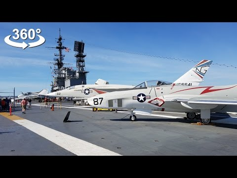 USS Midway Aircraft Carrier (CV-41 Nuclear) VR 360 video
