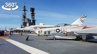 USS Midway Aircraft Carrier (CV-41) - on board, VR 360 video