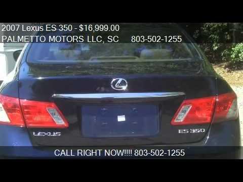 2007 lexus es 350 sedan for sale in aiken sc 29801 for Palmetto motors aiken sc