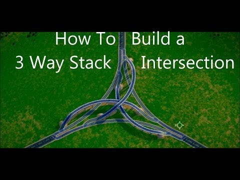 SimCity 5 Gameplay ► How to build a 3 Way Stacked Intersecti