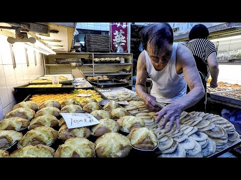 The Chinese Bakery Of Mong Kok. Street Food Of Hong Kong
