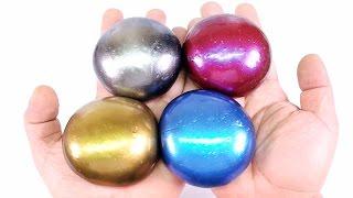 DIY Colors Steel Slime ! Metal Slime Balls | MonsterKids