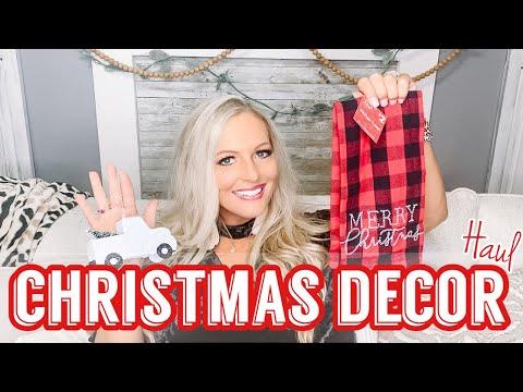 CHRISTMAS DECOR SHOPPING HAUL | FARMHOUSE CHRISTMAS DECOR + HOW I MAKE MY COFFEE AT HOME