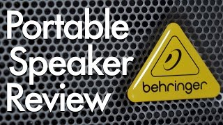 Behringer Europort MPA40BT Battery-Powered PA Speaker Review