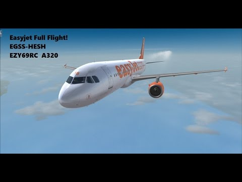 FSX | EGSS-HESH | EZY69RC | A320 | Full Flight | First Officer |