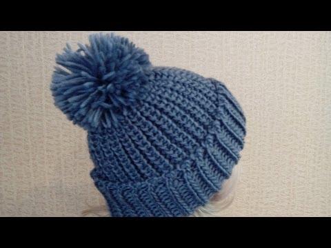 Модные женские вязаные шапки.