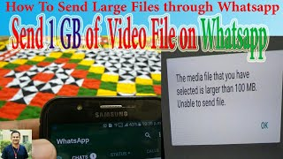 How to send large file through whatsapp videos / InfiniTube