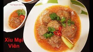 XíU MẠI Viên Thịt sốt cà - cách làm đơn giản cho bạn mới biết nấu - chuẩn cơm mẹ nấu - Tram Nguyen