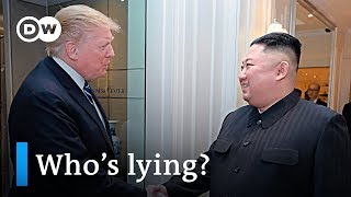 Trump Kim summit: 'North Korea has not demanded full sanctions relief' | DW News