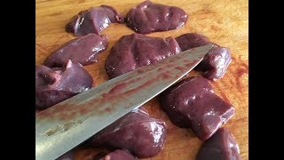 How to cut the liver into large pieces, #cut, #liver