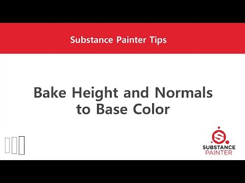 [Substance Painter] Bake Height and Normals to Base Color