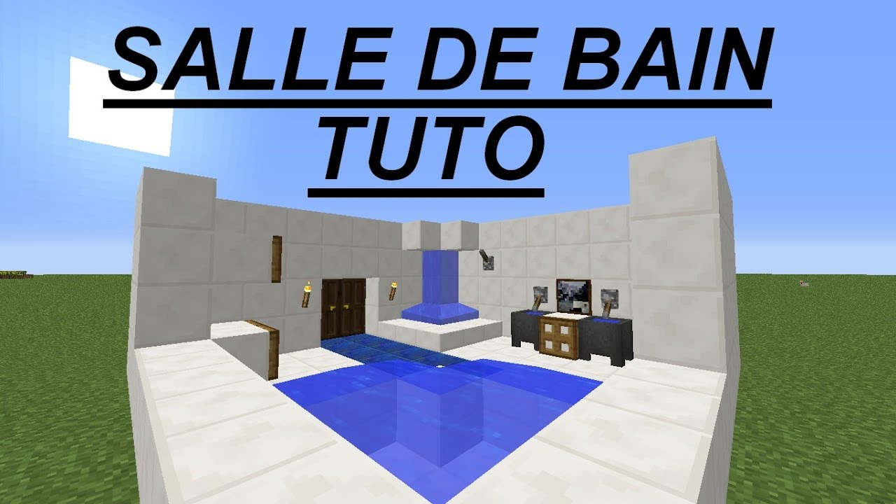 Minecraft Comment Creer Une Belle Salle De Bain Tuto Youtube