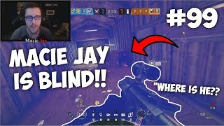 Macie Jay is Blind!! *FUNNY MOMENT* | Rainbow Six: Siege Twitch Clips #99