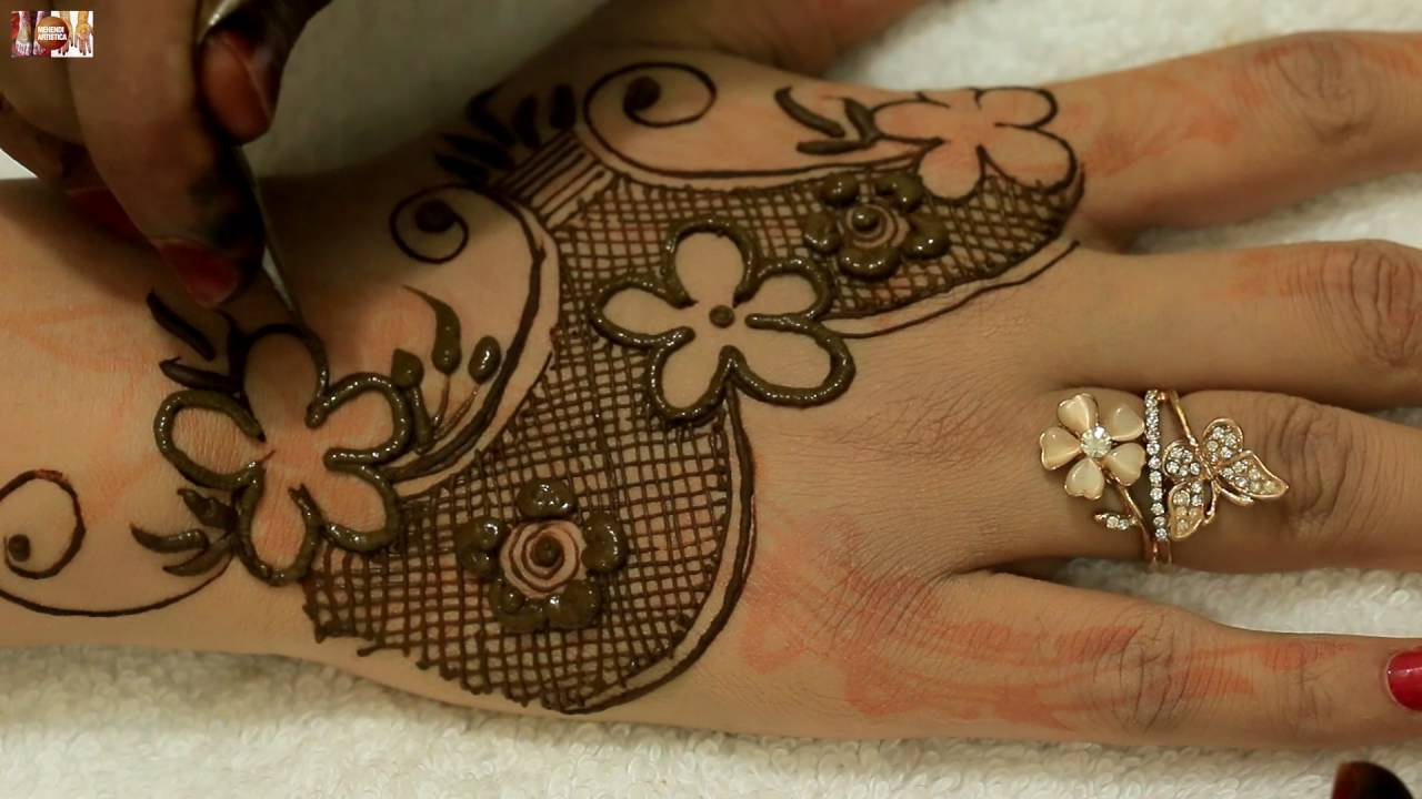 Elegant Henna Designs: Easy Beautiful Elegant Henna Mehndi Designs For Hands