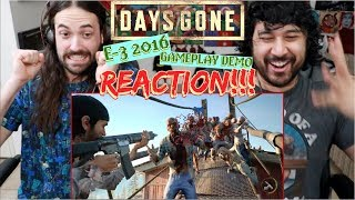 DAYS GONE - E3 Gameplay Demo | REACTION!!!