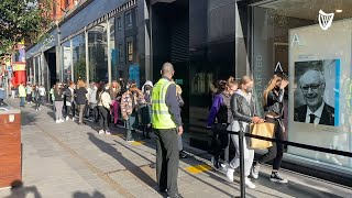 Retail doors reopen in Dublin as Covid-19 restrictions eased