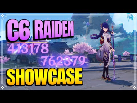 C6 Raiden Lv90 Showcase   Talents 6-11-12  【Genshin Impact】