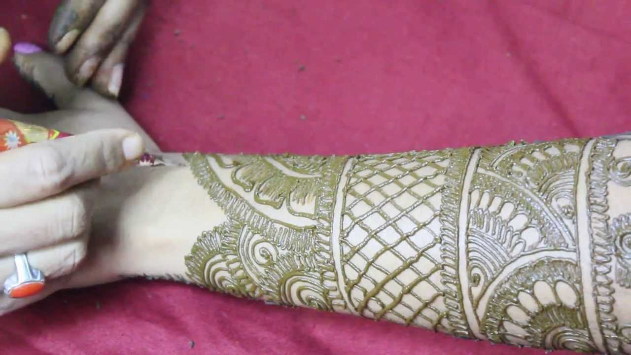 mehndi designs full hand front